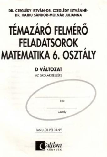 t233maz225r243 felm233rő feladatsorok � matematika 6 oszt225ly