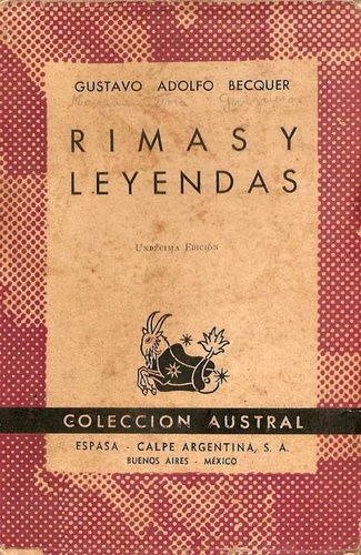 Rimas Y Leyendas Gustavo Adolfo Bécquer Könyv Moly
